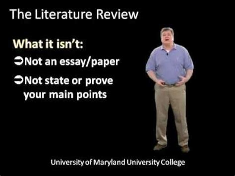 What is a literature review? - Literature Review Tutorial